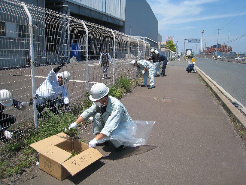 神原ロジスティクス、神原汽船福山物流センター周辺の清掃活動を実施