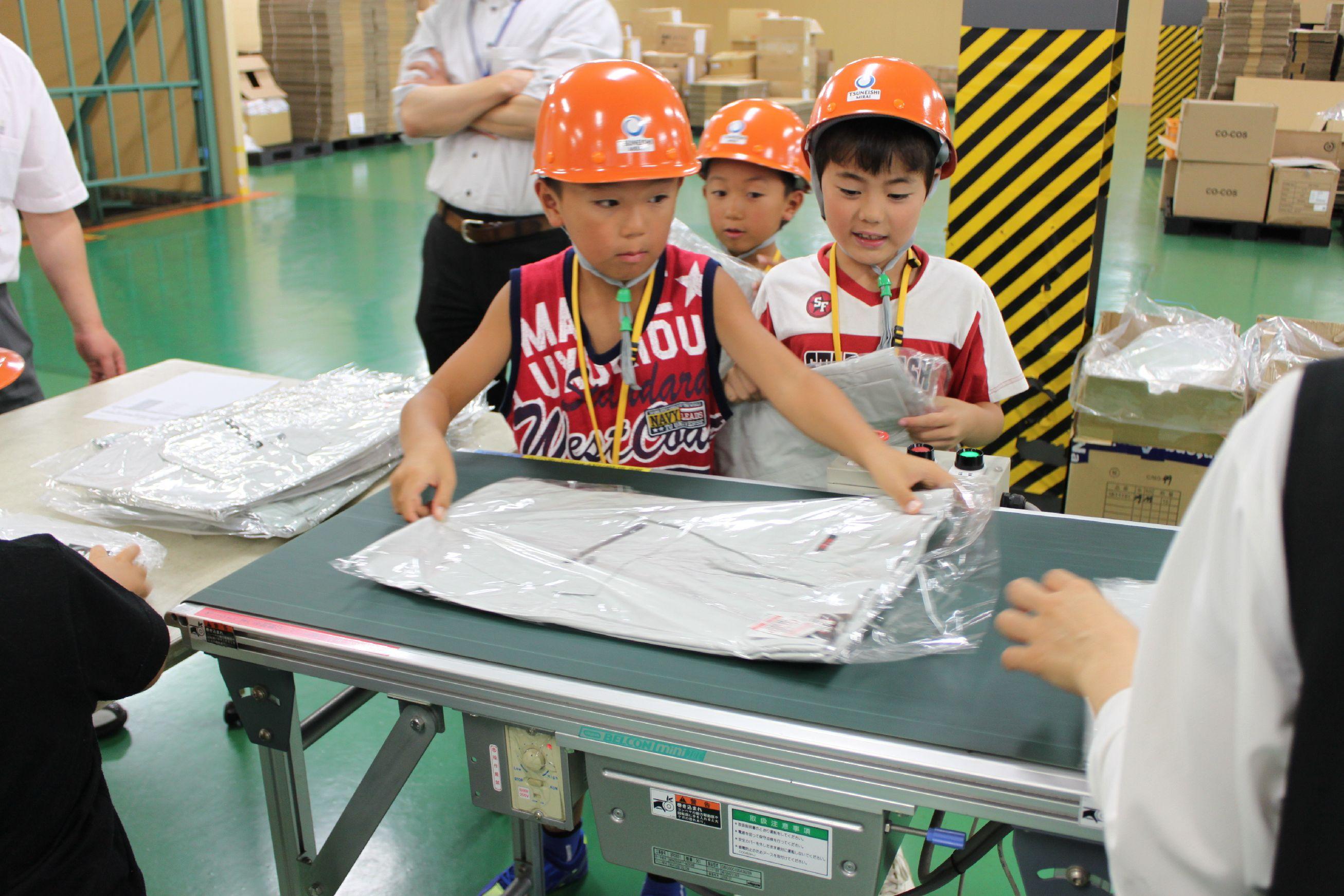 神原汽船福山物流センターの自動仕分け機を体験