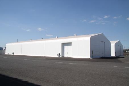 神原ロジスティクス 福山物流センターにテント倉庫を新設